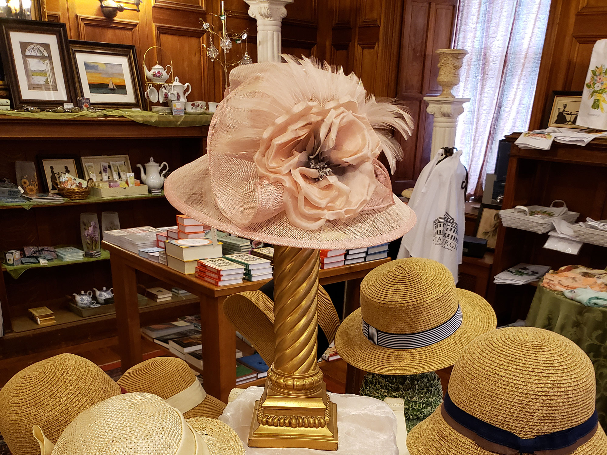 Hats in the gift shop