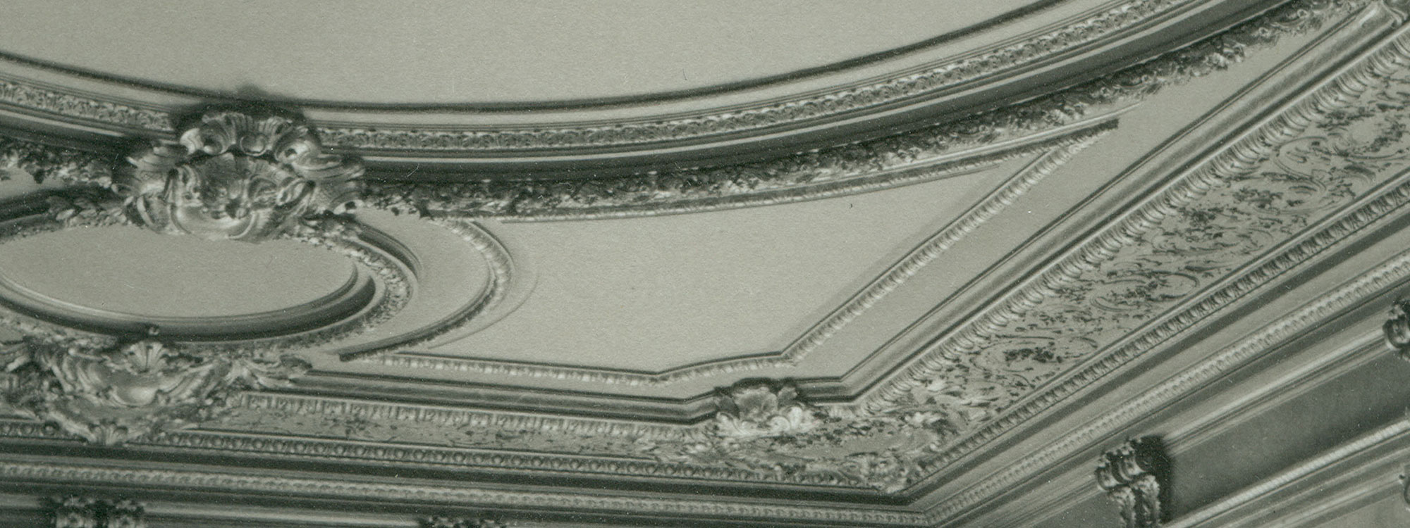 Decorative background detail view of a ceiling