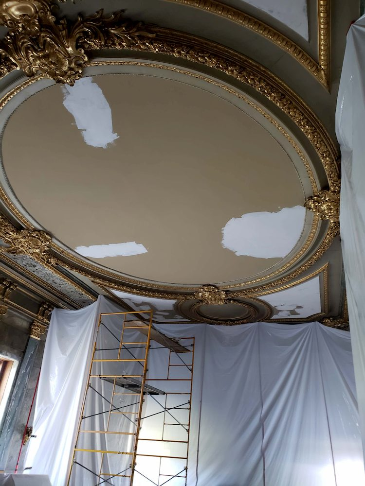Ceiling Patched and Ready